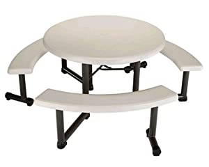 Lifetime 44-Inch Almond Round Picnic Table