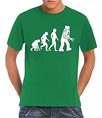 Touchlines - Robot - Something, Somewhere T-Shirt Kelly Green, S