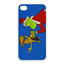 buy Fashion Series Cartoons How The Grinch Stole Christmas Dr. Seuss Hipster Iphone 4 Or 4S Best Rubber+Pvc Case Including Dust Plug