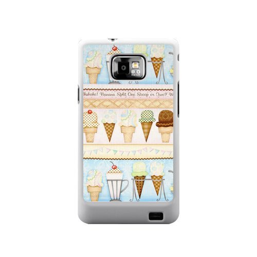 #1  Ice Cream Case All Flavours Of Ice Cream Sandwich Samsung Galaxy S2 I9100 Case Cover Unique Design(Not Fit T-mobile and Sprint Version)