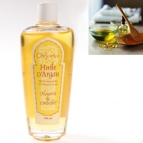 Orescience ® Olio d'Argan 100ml 100% Naturale - Pelle, unghie, capelli...