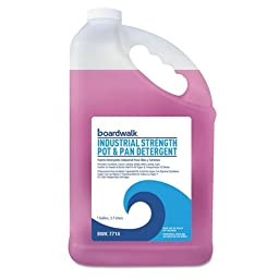 Boardwalk 7714EA Industrial Strength Pot And Pan Detergent, 1 Gallon