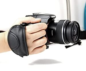Cosmos Black Professional Hand Wrist Grip Strap for Panasonic Sony Canon Nikon Fuji Olympus Pentax Dslr + Cosmos Cable Tie