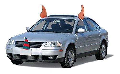 Elf Ears Car Vehicle Decorations Costume Christmas Parade Fun Stocking Cap (Holiday Car Costume)