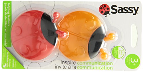 Sassy Ladybug Teethers Developmental Toy, 2 Pack, Colors May Vary - 1