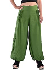Indi Bargain Rayon Pleated Trendy Harem Trousers