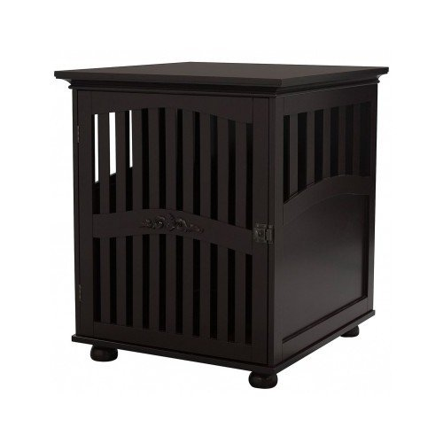 Wood Dog Crate Kennel Cage Pet Bed Playpen Soft Cat Tray House End Table Medium front-1026105