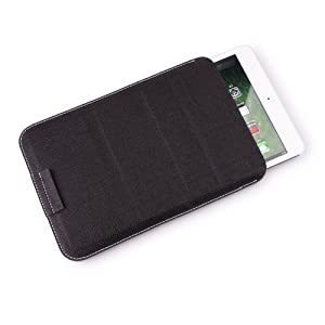 for curtis klu 7 lt7033 tablet black leather sleeve case w kickstand