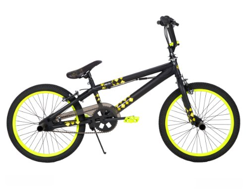 Review Huffy BMX Revolt Bike, Matte Black, 20-Inch