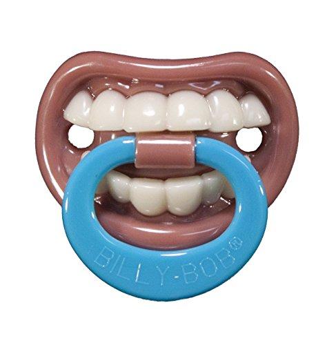 Générique - 351316 - Tétine Humoristique Dents Bébé - Taille Unique
