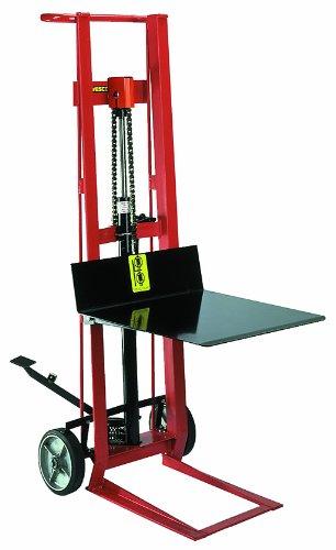 Wesco 260002 Steel Frame 2 Wheeled Hydraulic Pedalift, 750 lbs Capacity, 54