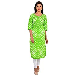Shree Ram Impex Exclusive Tie n dye Jaipuri Cotton kurti - Green
