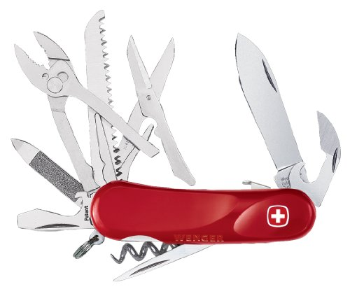 Wenger 16819 Swiss Army Evolution Lock S52 Pocket Knife, Red