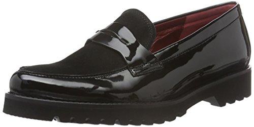 Gabor Shoes Comfort Sport, Mocassini Donna, Nero (Schw(Fu Rot/S.S/s) 27), 42 EU