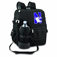 NCAA Northwestern Wildcats Turismo Insulated Backpack Cooler by Picnic Time