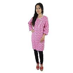 ShopMore Printed Kurta(XL,Pink)