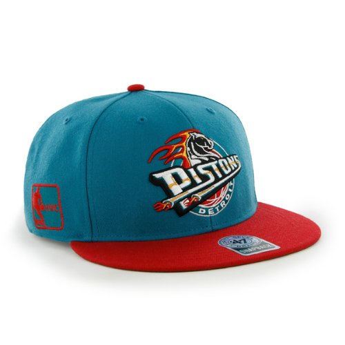 NBA Detroit Pistons Big Shot Snapback Adjustable Cap, One Size, Dark Teal