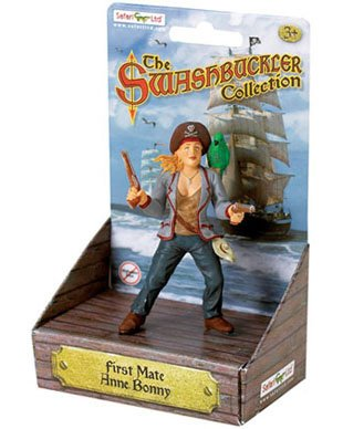 Safari Ltd. Human Figures - Pirates - FIRST MATE ANNE BONNY with PARROT (3.75 inch) - 1