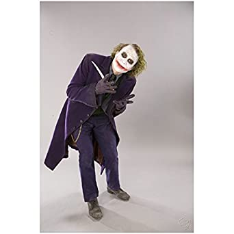 Batman: The Dark Knight Heath Ledger is The Joker Posing with knife