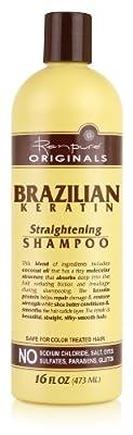 Renpure Originals Brazilian Keratin Straightening Shampoo, 16 Ounce