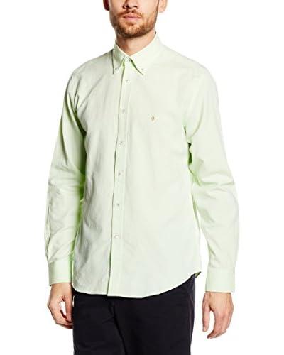 Caramelo Camisa Vestir Verde