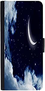 Snoogg Moon And Stars 2659 Graphic Snap On Hard Back Leather + Pc Flip Cover ...
