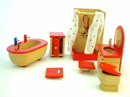 Order Online Wooden Dolls House Bathroom Furniture   7 Pieces