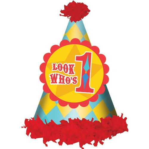 Deluxe Wild Fun To Be One Blue Boys Happy 1st Birthday Party Fabric Cone Hat Amscan