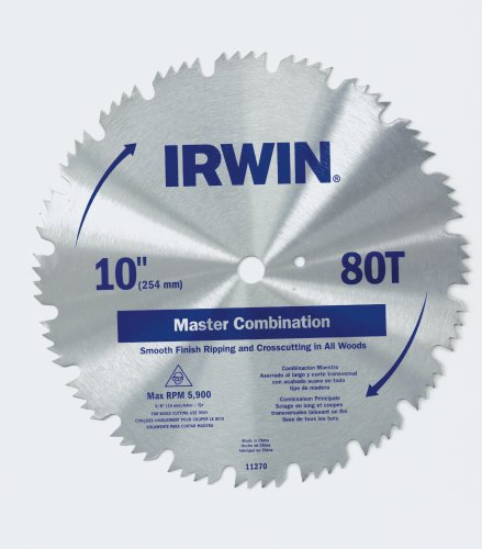 Irwin 11270 Master 10-Inch 80 Tooth ATB Combination Saw Blade with 5/8-Inch Arbor