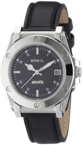 Breil Manta Classic Ladies Black Leather Strap Watch TW0723