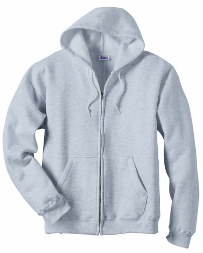 Hanes Men's Full Zip EcoSmart Fleece Hoodie, Light Steel, 3X-Large