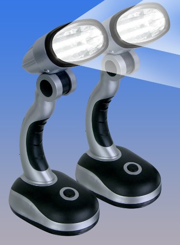 Cordless Multidirectional Led Lamps Set Of 2