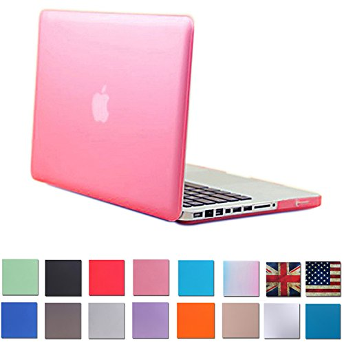 """HDE Matte Hard Shell Clip Snap-on Case for MacBook Pro 13"""" (Non-Retina) - Fits Model A1278 (Pink)"""