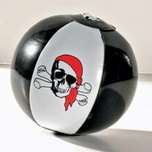 12 Inflatable Pirate Beach Balls - 1