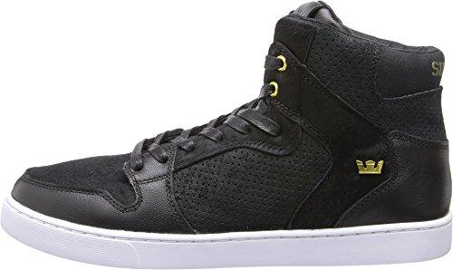 Supra Men's Vaider LX Black/Gold/White Sneaker Men's 9, Women's 10.5 D (M)