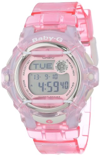 Casio Women's Baby-G BG169R-4 Pink Resin Quartz Watch with Pink Dial