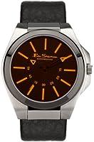 Ben Sherman Men's Quartz Watch with Black Dial Analogue Display and Black PU Strap R921