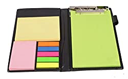 COI MEMO NEON NOTE PAD/MEMO NOTE BOOK WITH STICKY NOTES & CLIP HOLDER IN DIARY STYLE