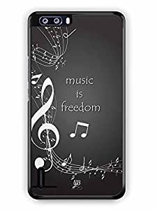 YuBingo Music is Freedom Designer Mobile Case Back Cover for Huawei Honor 6 Plus