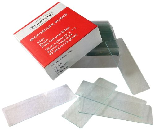Premiere 9101-E Glass Precleaned Premium Grade Enhanced Microscope Slides With Finely Polished Edges And Clipped Corners, Plain (Case Of 1440)