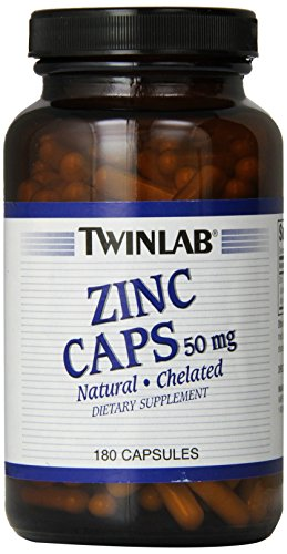 Twinlabs Zinc 50Mg, 180 Capsules (Pack Of 3)