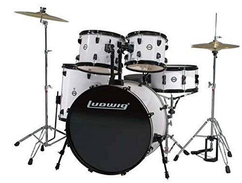ludwig-accent-drive-white-5-piece-drum-set-includes-hardware-throne-pedal-cymbals-sticks-and-drum-ke