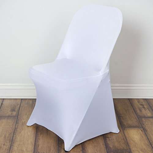 10 pcs Spandex Folding CHAIR COVERS Wedding Supplies - White