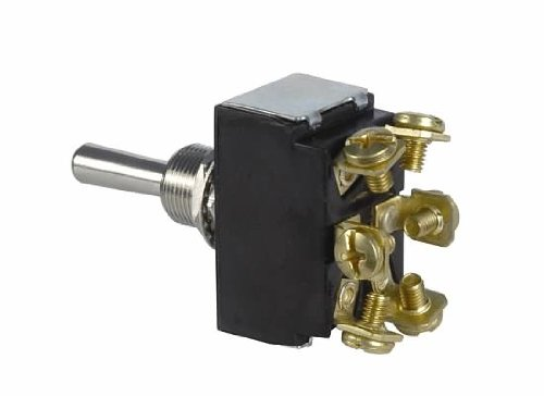 Jt&T Products (2648F) - 30 Amp @ 12 Volt - D.P.S.T., Heavy Duty 2-Way Momentary On/Off/Momentary On Toggle Switch With Six Screw Terminals