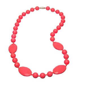 Jelly Strands Bleckley Baby Teething Necklace Coral
