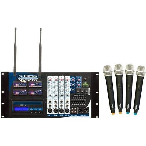 VOCOPRO PA-MAN II Four Channel Wireless All-In-One P.A. System