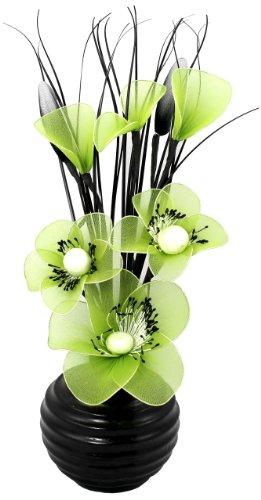 Flourish 813 - Piccolo vaso con fiori artificiali, colore: verde lime