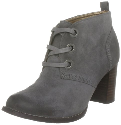 Hush Puppies Women's Lover Smoke Waxy Suede Platforms Boots H2613096S 4 UK