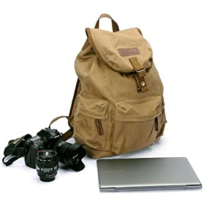 Koolertron Canvas Vintage Camera Backpack - AS-KSFB39-YE