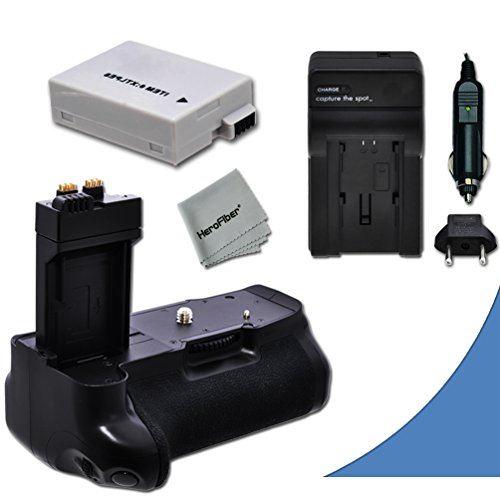 High Performance Battery Grip For Canon Eos Rebel T5I, T4I, T3I, T2I, Eos 700D, 650D, 600D, 550D Dslr Cameras Plus 1 High Capacity Replacement Canon Lp-E8 Battery And Ac/Dc Quick Charger Kit